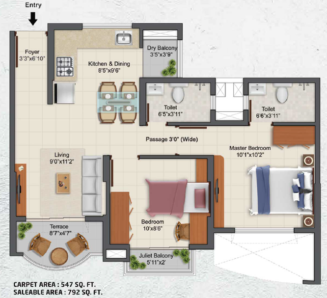 Tata La Montana Phase 3-Sierra, Pune - Floor Plan
