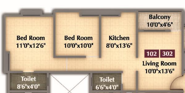 Nimhan Grace Residency, Pune - Floor Plan