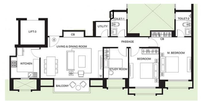 Hiranandani Skylark Enclave, Thane - Floor Plan