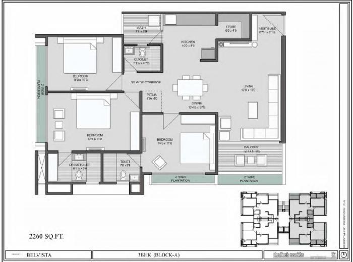 Arista Belvista, Ahmedabad - Floor Plan