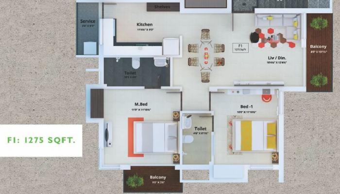 Rajashree, Chennai - Floor Plan