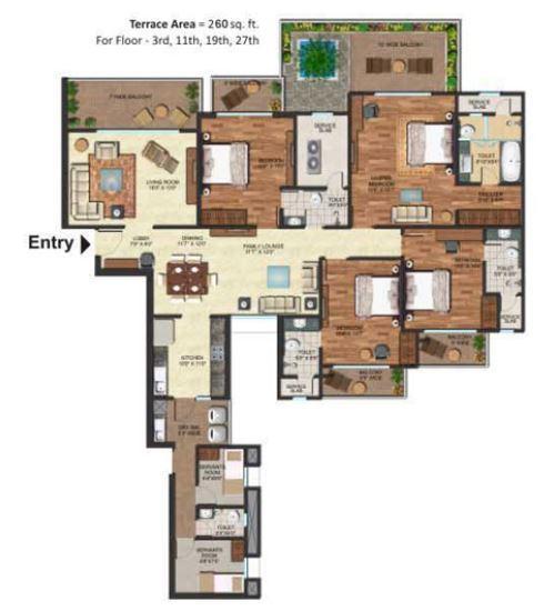 Prateek Edifice, Noida - Floor Plan