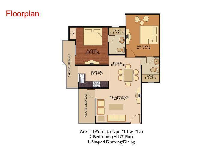 Shree Energy Classic Residency Phase I, Ghaziabad - Floor Plan