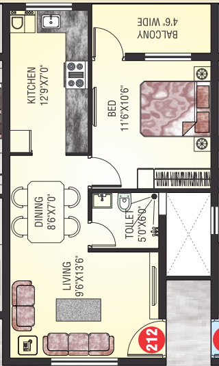 Matha Jyothi Residency, Mangalore - Floor Plan