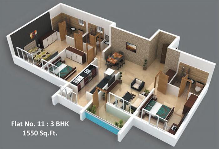 Inland Mayura, Mangalore - Floor Plan