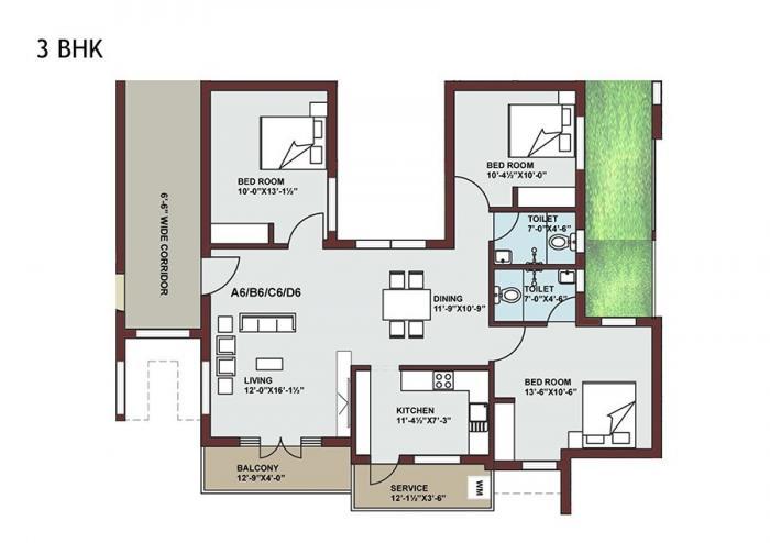 Sree Bhoomi Neela Enclave, Chennai - Floor Plan