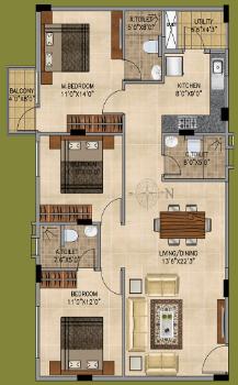 Vedant Vayun, Bangalore - Floor Plan