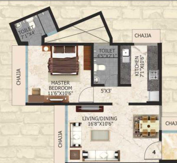 Safal Sai, Mumbai - Floor Plan