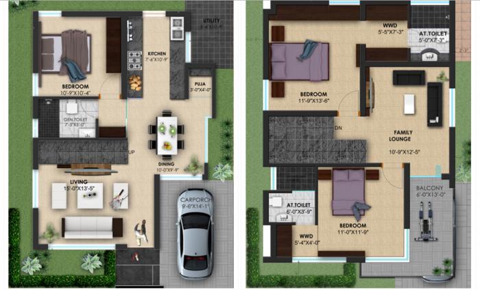 Hegde Silver Spring, Mysore - Floor Plan