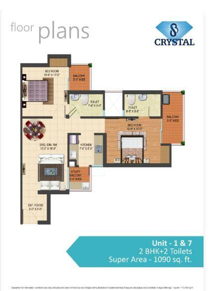 SB Crystal, Ghaziabad - Floor Plan