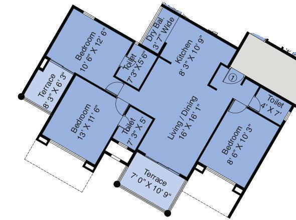 Amit Eka, Nashik - Floor Plan