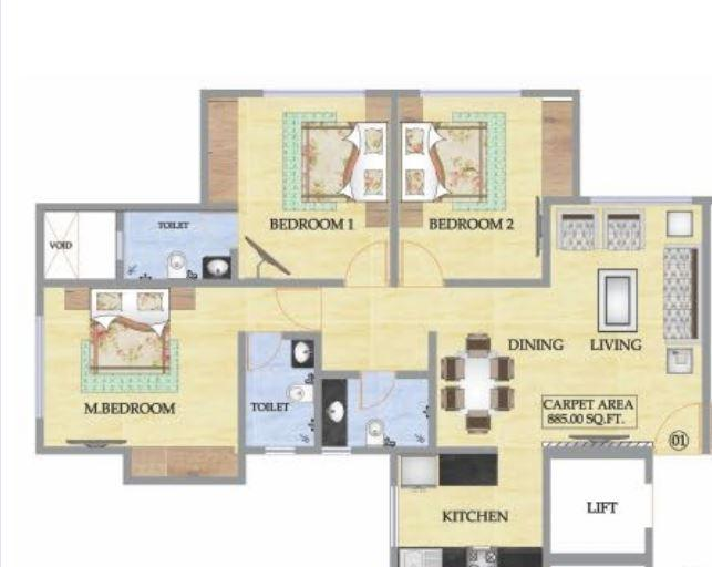 Kabra Alya and Garnet, Thane - Floor Plan