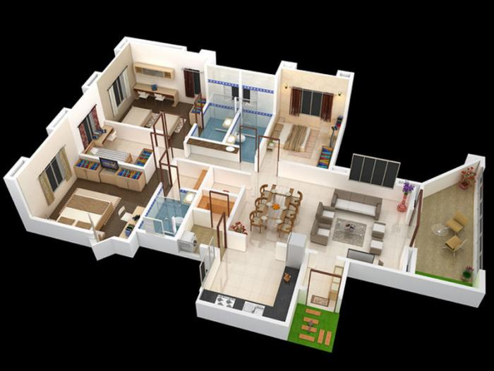 Bagad Blue Bells, Nashik - Floor Plan