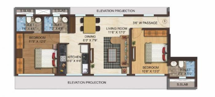 Fairmont Moksh, Mumbai - Floor Plan
