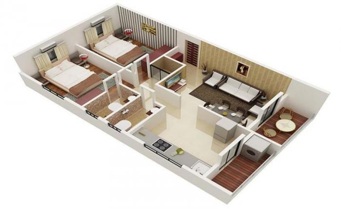 Laxmi Sakshi Ganesh Heights, Nashik - Floor Plan