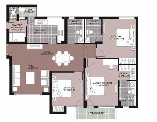 Unitech The Residences, Noida - Floor Plan