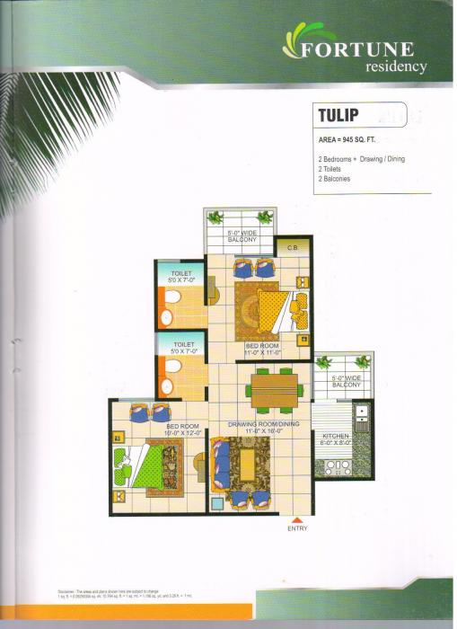Vasu Fortune Residency Phase I, Ghaziabad - Floor Plan