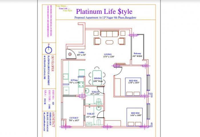 Platinum Lifestyle, Bangalore - Floor Plan