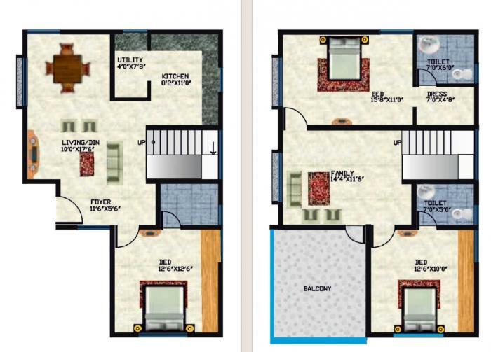 GE Global Green Apple Villas, Bangalore - Floor Plan