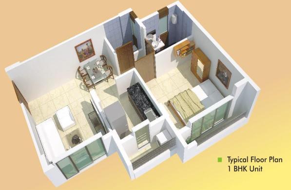 Poddar Samruddhi Evergreens, Thane - Floor Plan