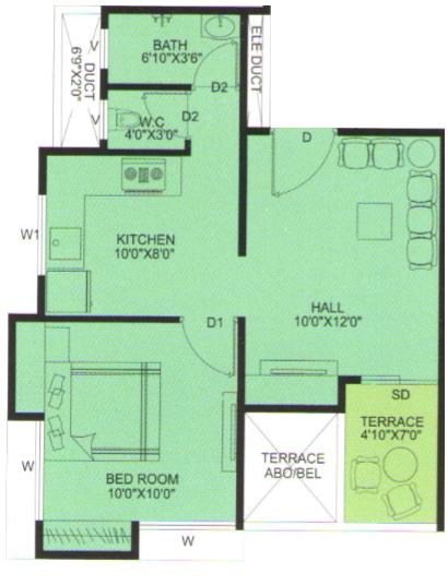 Pruthvi Ekdanta Homes, Pune - Floor Plan