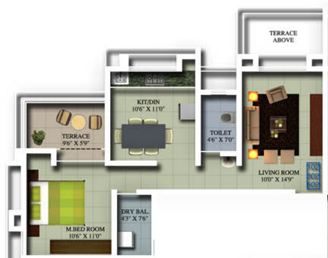 Jotiraditya  Acacia, Kolhapur - Floor Plan