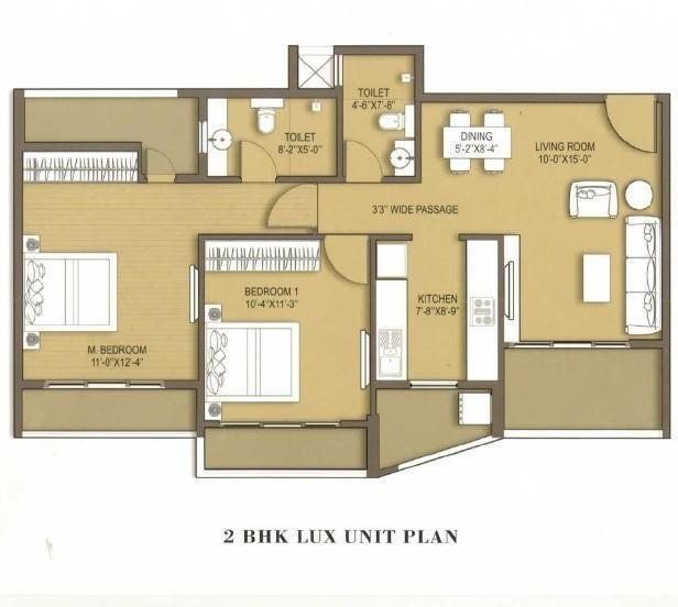 ana avant garde mira road by ana realty in mumbai. Black Bedroom Furniture Sets. Home Design Ideas