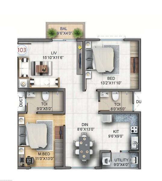 Sumadhura Soham, Bangalore - Floor Plan