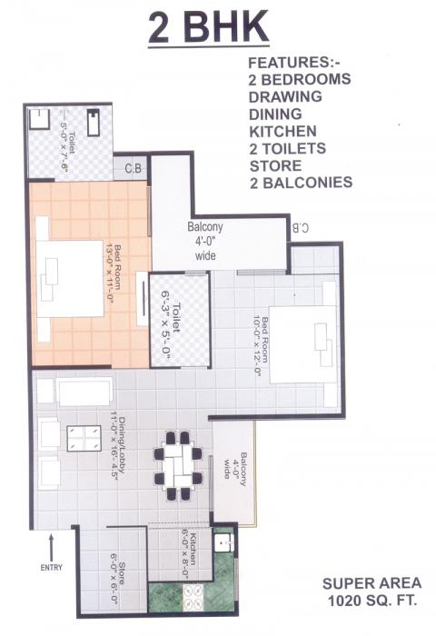 Gayatri Arihants Braj Ganga Residency, Mathura - Floor Plan