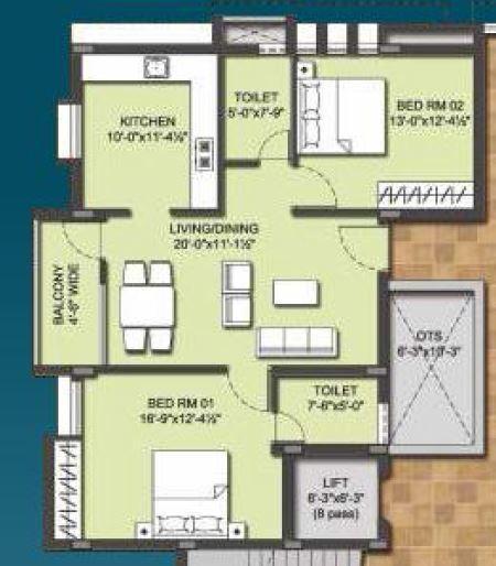 Bhuvana Diamond Hill, Coimbatore - Floor Plan