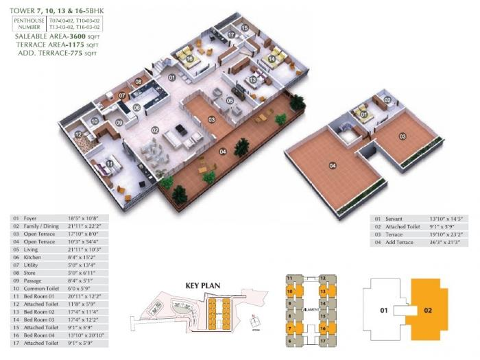 Shriram Chirping Woods Villament, Bangalore - Floor Plan