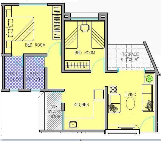Alacrity Mountain Raga, Pune - Floor Plan
