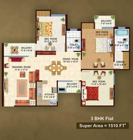 Earthcon The Urban Village, Lucknow - Floor Plan
