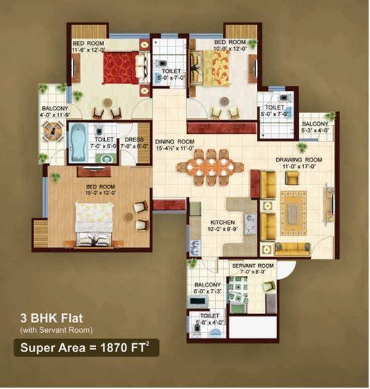 Earthcon The Urban Village, Lucknow - Floor Plan