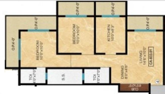 Karmvir Sapphire Homes, Thane - Floor Plan