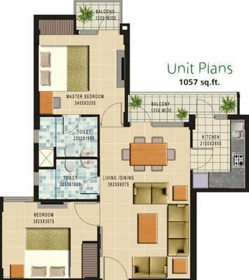 Ansal API Greenfield Residencia, Lucknow - Floor Plan