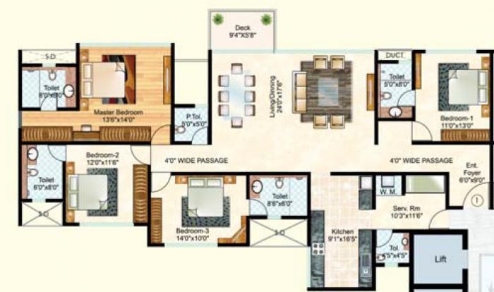 Vasant Oasis Phase II, Mumbai - Floor Plan