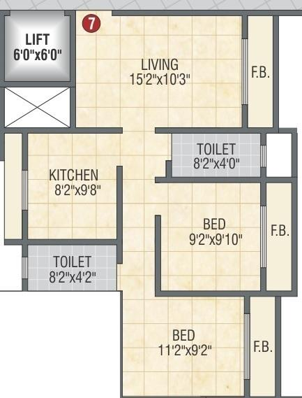 Krishna Nisarga, Mumbai - Floor Plan
