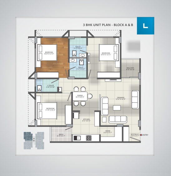 Siddharth Icon, Ahmedabad - Floor Plan