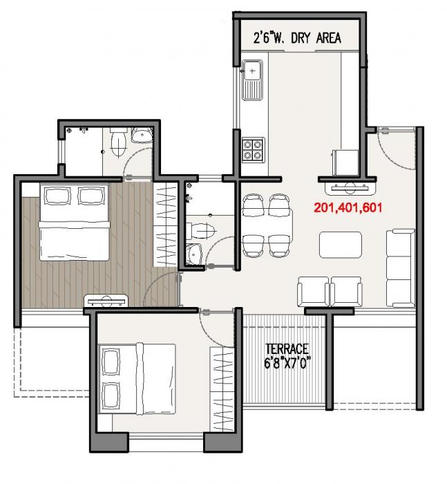 Kapila Vastu, Pune - Floor Plan