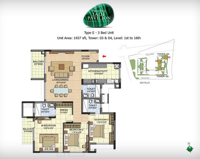 Prestige Jade Pavillion, Bangalore - Floor Plan