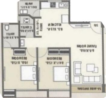 Green Aristo Residency, Surat - Floor Plan