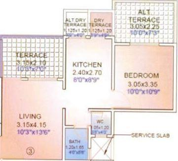 Satish Bora Crystal Heights, Pune - Floor Plan