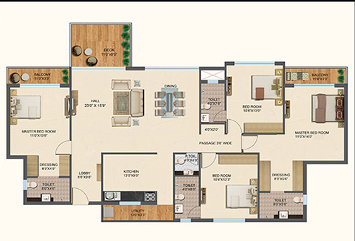 Prozone Palms, Nagpur - Floor Plan