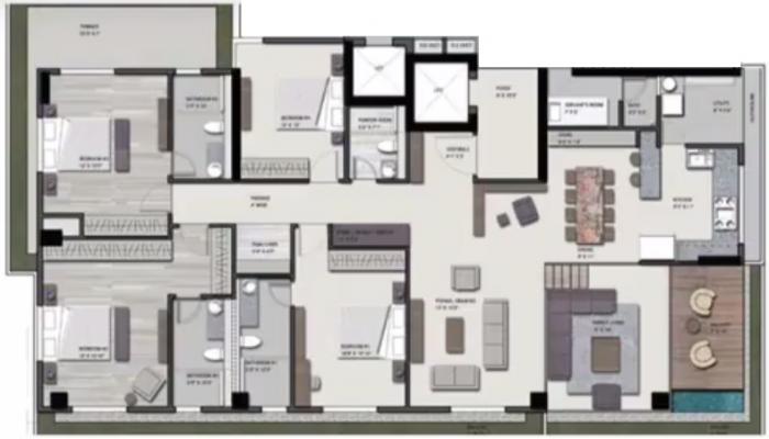 Saanvi Skydeck Select, Ahmedabad - Floor Plan