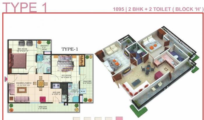 Windsor Premium Tower, Ghaziabad - Floor Plan
