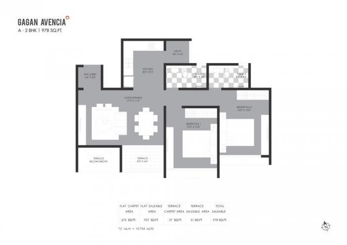 Gagan Avencia, Pune - Floor Plan