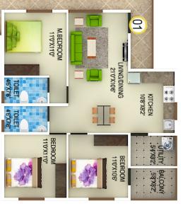 DS Max Spark Nest, Bangalore - Floor Plan