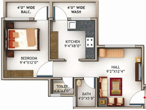 Sandesh City Apartment, Nagpur - Floor Plan