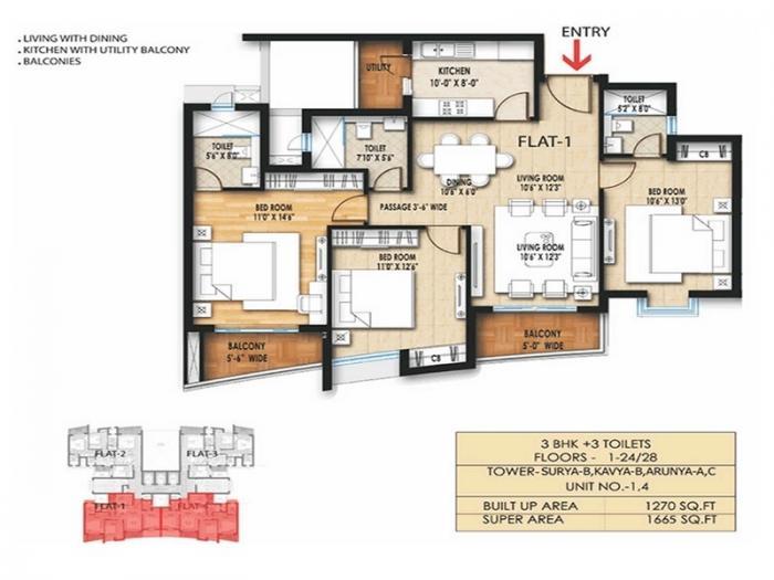 Paarth Arka, Lucknow - Floor Plan
